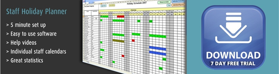 Staff holiday planner